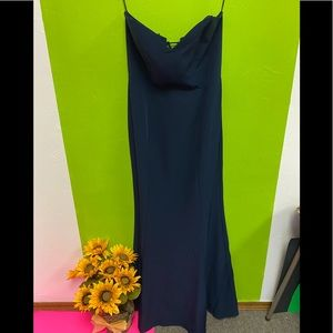 WAYF Convertible Gown Navy Strapless or Straps XL